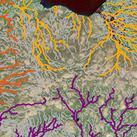 22. Modelled streams using UAS-based surface model (detail from Fig. 2)