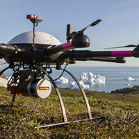 Octocopter (Mikrokopter) with Surveyor (YellowScan) & RedEdge (MicaSense), Disko Island, Greenland (photo-copyright: Normand-Treier))